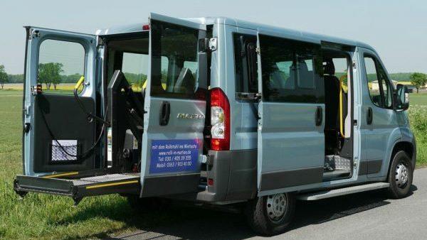 Fiat Ducato Mietwagen Behindertentransport Rollstuhltransport Berlin